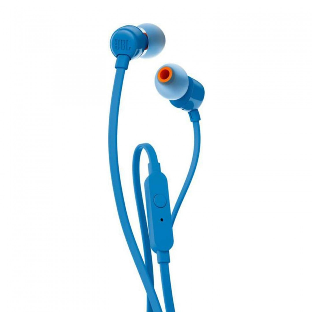 Wired Headphone/ JBL/ JBL T110 Blue