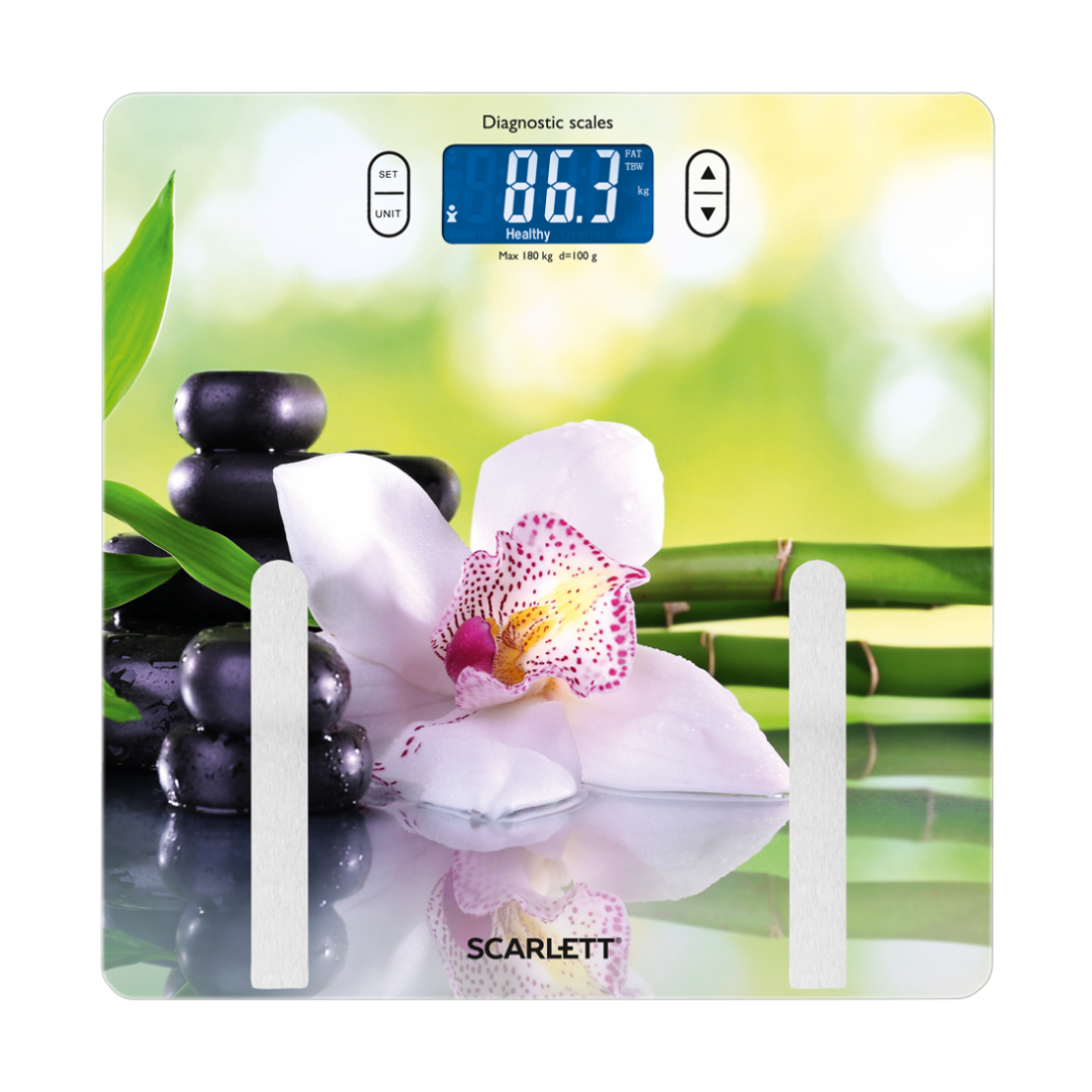 Bathroom scale SPA orchid