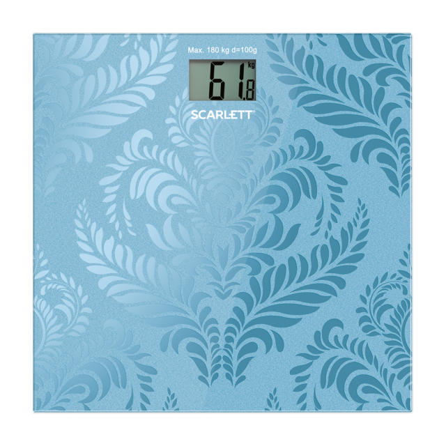Bathroom scale navy blue