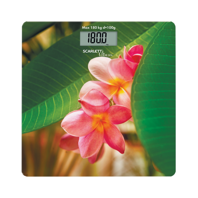 Bathroom scale SPA flower