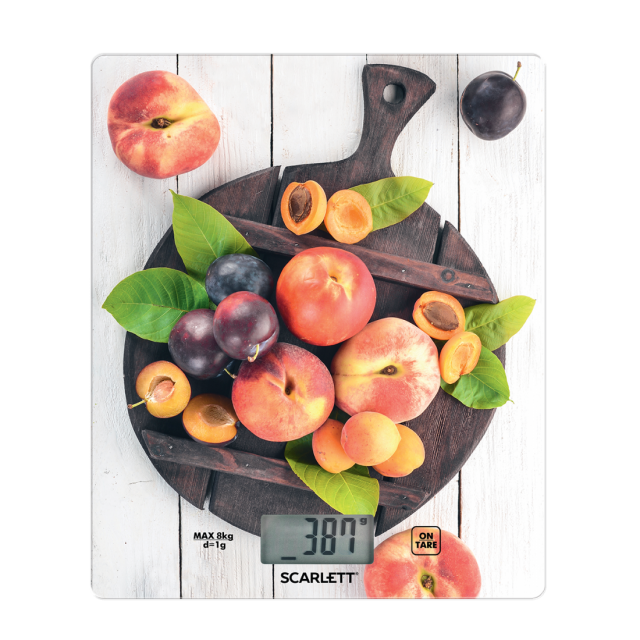 kitchen scale fruits on the Board