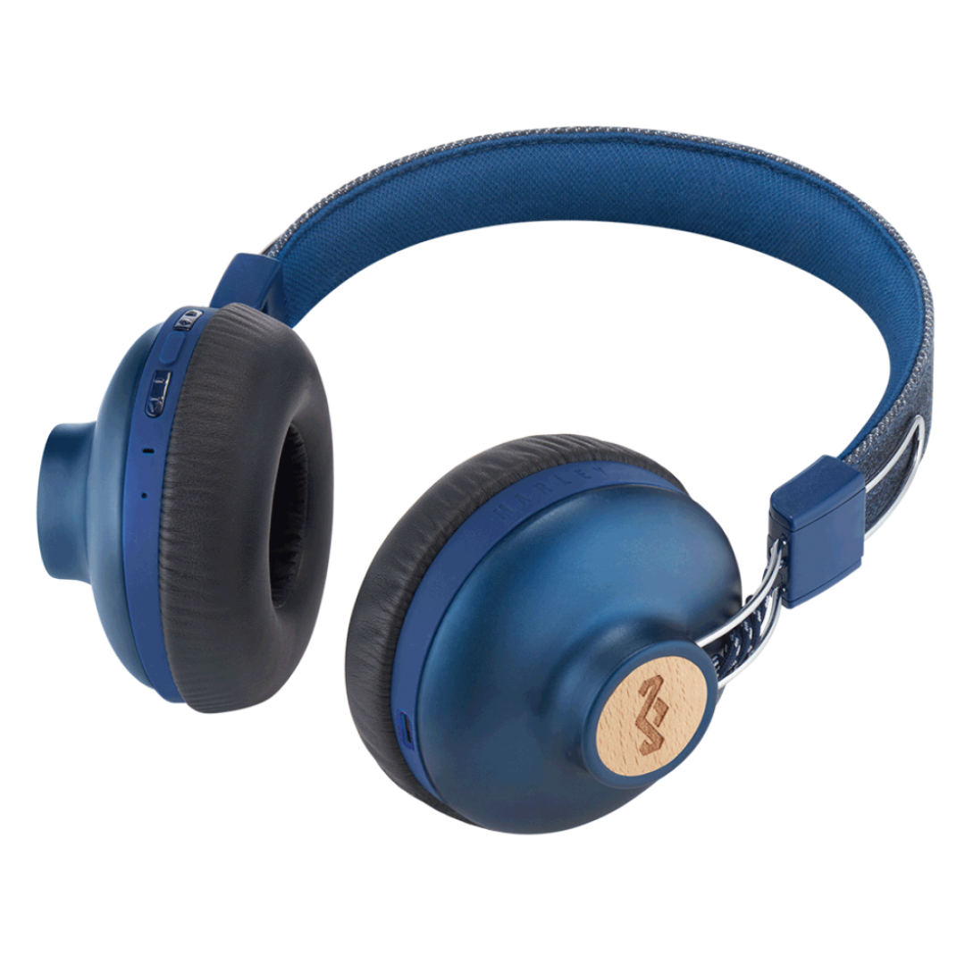 Wireless Headphone/ House of Marley/ House of Marley EM-JH133-DN Positive Vibration BT DENIM