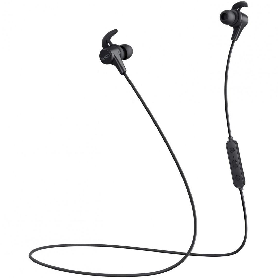 Wireless Headphone/ Aukey/ AUKEY Magnetic Wireless Earbuds. (Black) EP-B62