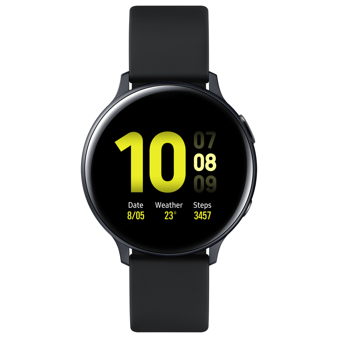 Smart Watch/ Samsung Galaxy Watch Active2  44 mm (Alum), black (40 mm strap is included as an in-box item) (SM-R820NZKRSER)