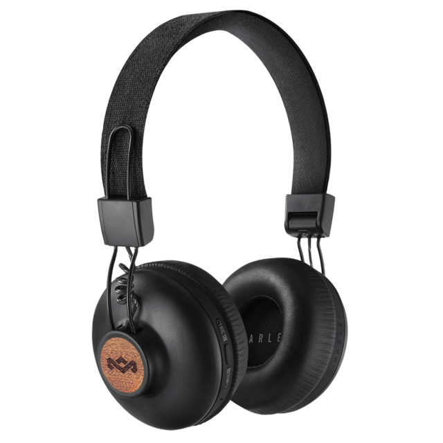 Wireless Headphone/ House of Marley/ House of Marley EM-JH133-SB Positive Vibration BT Signature Black