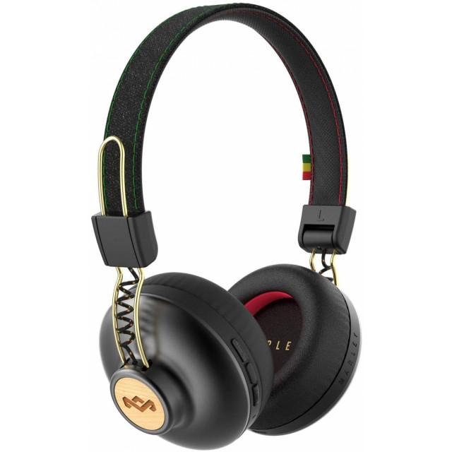 Wireless Headphone/ House of Marley/ House of Marley EM-JH133-RA Positive Vibration BT RASTA