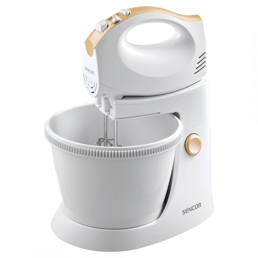 Mixer/ SENCOR SHM 5330 Hand Mixer with a Rotating Bowl, Power input 300 W, Tilt-out arm, Rotating bowl, Turbo pulse level