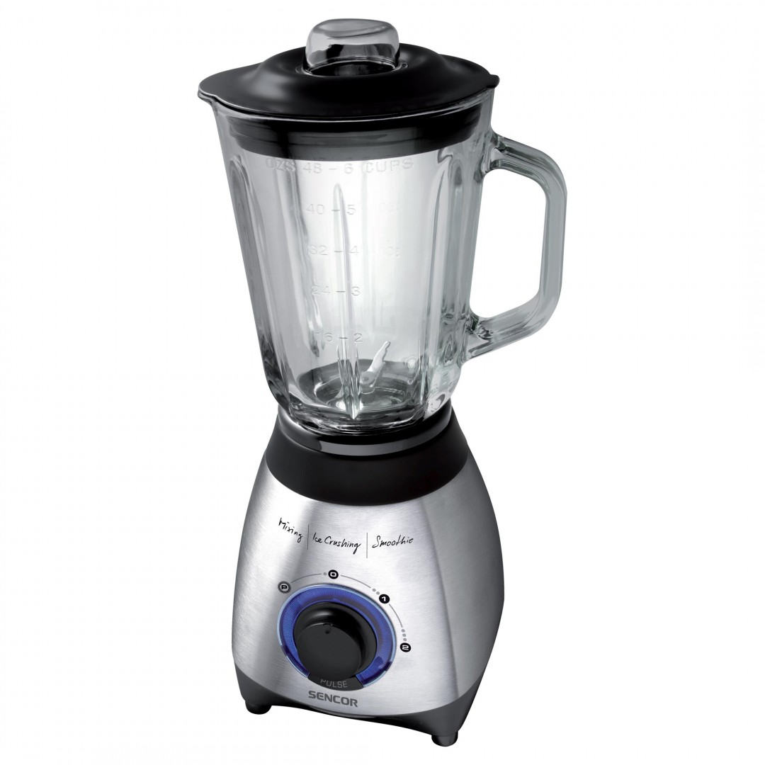 Blender/ Sencor SBL 4371 Glass Jug Blender, 1.5 l capacity,  Power input: 600W, Jug is made from very high quality heat resistant glass
