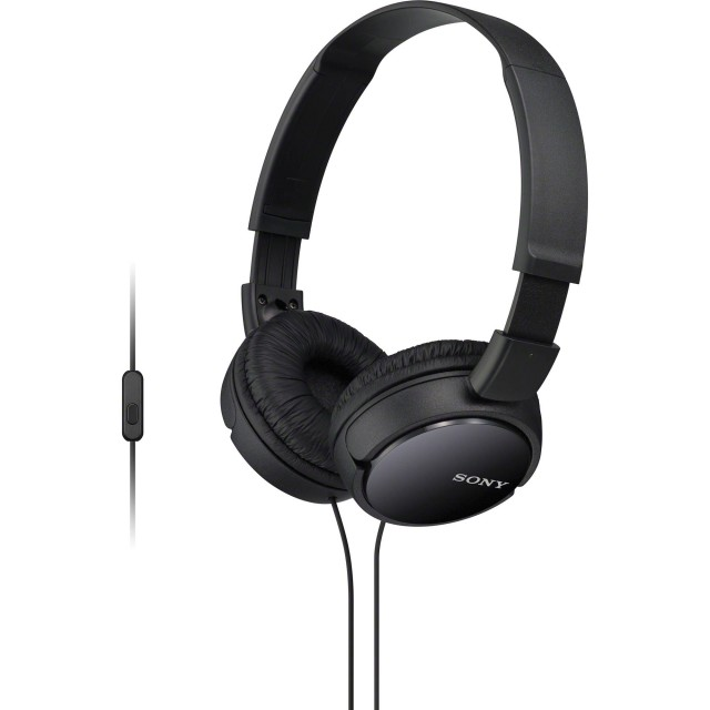 Wired Headphone/ Sony/ Sony/ MDR-ZX110AP Black with Remote Microphone