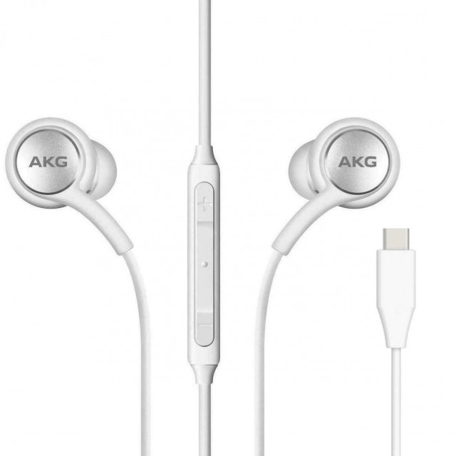 Wired Headphone/ Samsung/ Samsung  AKG  IC100 Type-C Earphones White