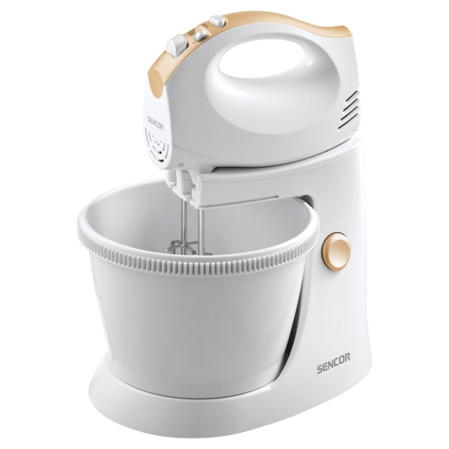 Mixer/ SENCOR SHM 5330 Hand Mixer with a Rotating Bowl, Power input 300 W, Tilt-out arm, Rotating bowl, Turbo pulse level