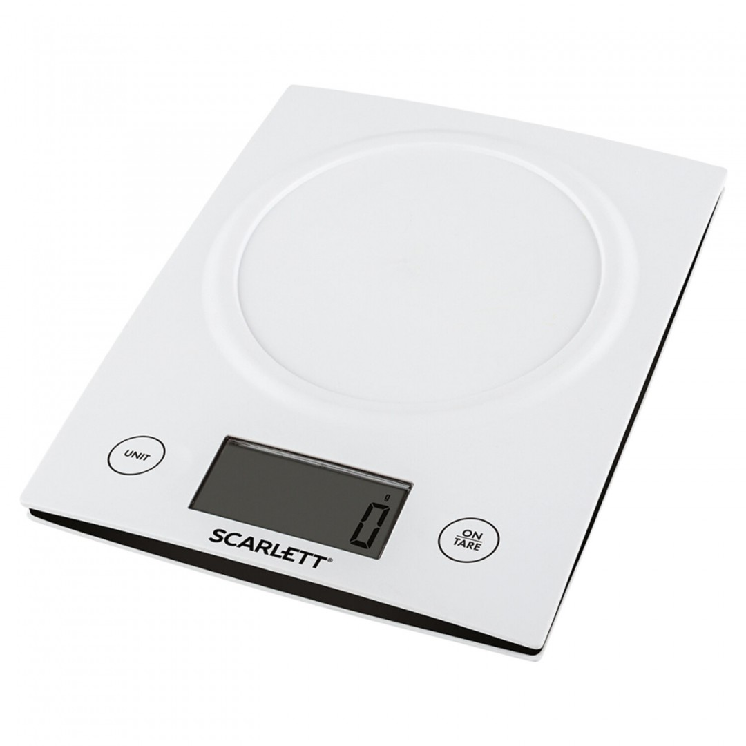kitchen scale white Max weight 5k Battery two AAA 15V batteries included