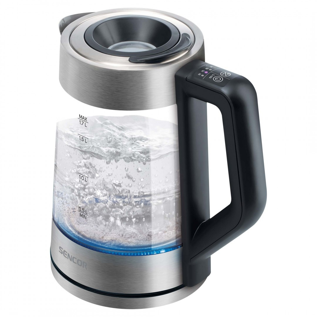 Kettle/ Sencor SWK 1795SS Electric Kettle, Volume 1.7L,50/70/80/90/100 C,  Power Input: 2200 W, Central 360° STRIX Connector