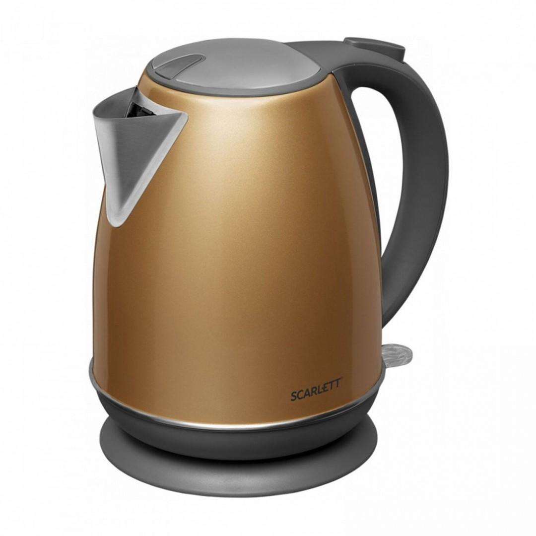 Electric kettle gold Power 2200w Volume 17L Auto off Steel grade STEEL PRO Filter