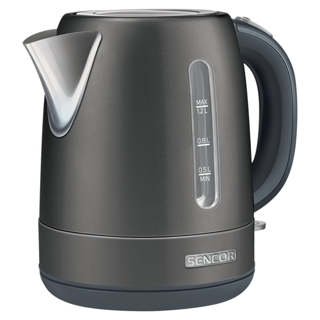 Kettle/ Sencor SWK 1228BK Electric Kettle, Volume 1.2L, Water Level Mark, Power Input: 2,150W, Central 360° STRIX Connector