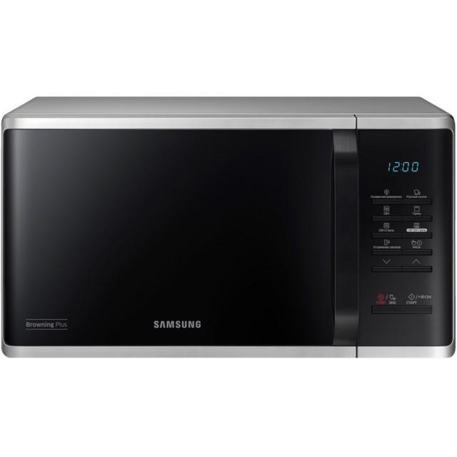 Microwave/ SAMSUNG MG23K3513AS/BW Microwave,BioCeramic, Grill, 23lt, 1250 watt,Silver