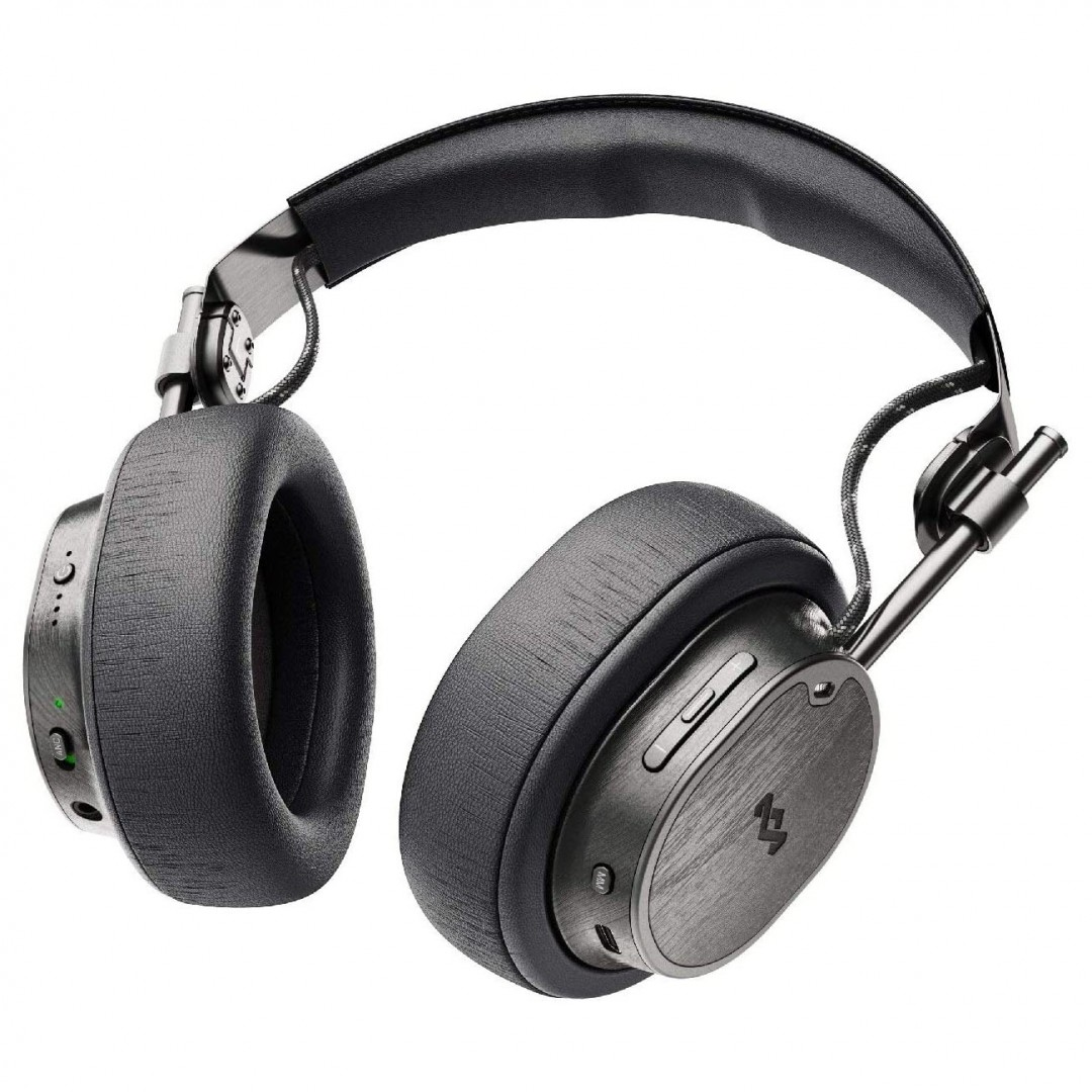 Wireless Headphone/ House of Marley/ House of Marley Exodus ANC Over Ear Bluetooth Headset Black  (EM-DH021-BK)