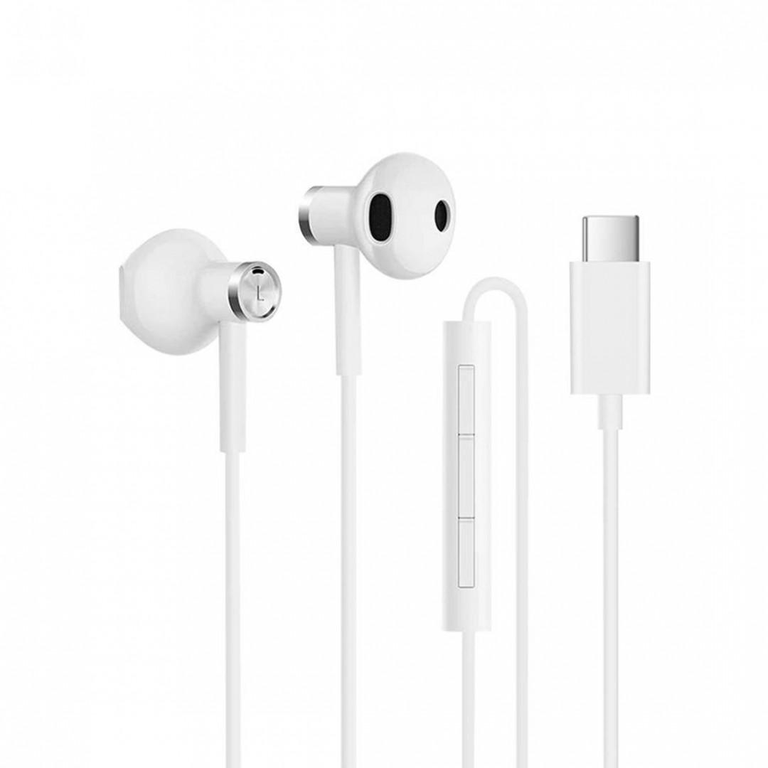 Wired Headphone/ Xiaomi/ Xiaomi Mi Dual  Driver Earphones (Type-C) ZBW4434TY White