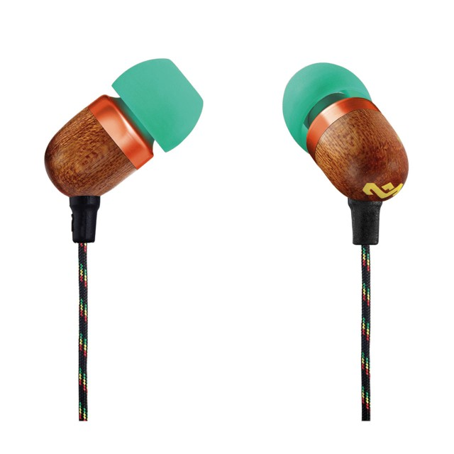Wired Headphone/ House of Marley/ House of Marley EM-JE041-RA  Smile Jamaica In-Ear Headphones With Remote And Microphone (RASTA)