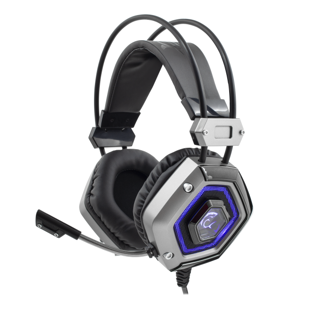 Headphone/ White Shark/ White Shark Gaming Headphones GH-1841 Lion USB Silver