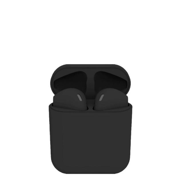 i12 Inpods | Black | გლუვი უსადენო ყურსასმენი