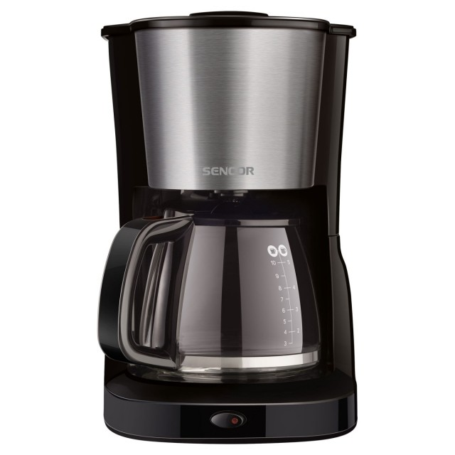Coffee Maker/ Sencor SCE 3050SS Coffee Maker, Ideal for Brewing 12 Cups of Coffee at Once, 1.25 Litre Water Tank, Glass Kettle, 1000watt, 215 С… 205 С… 325, 1,6kg